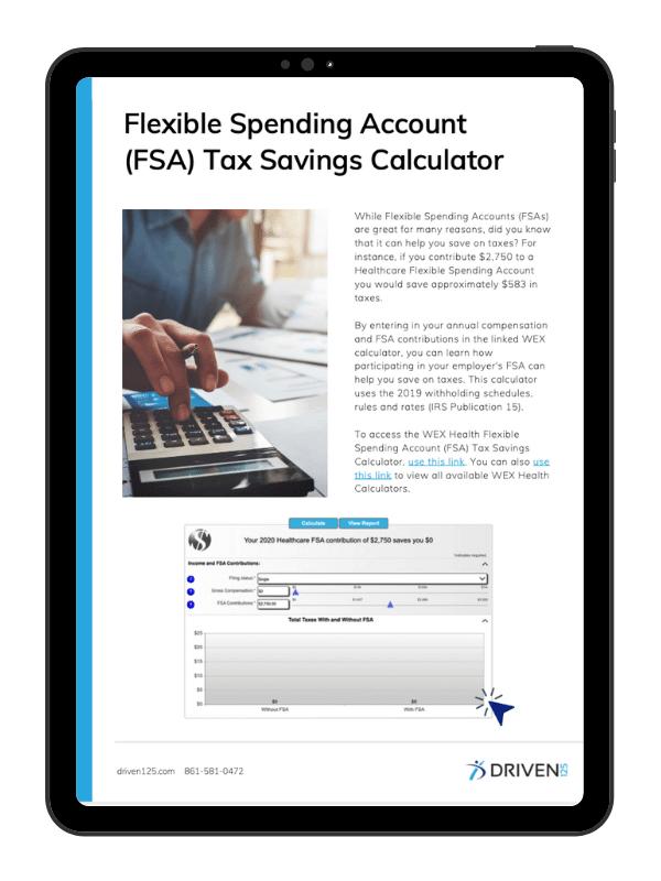 FSA Tax Savings Calculator