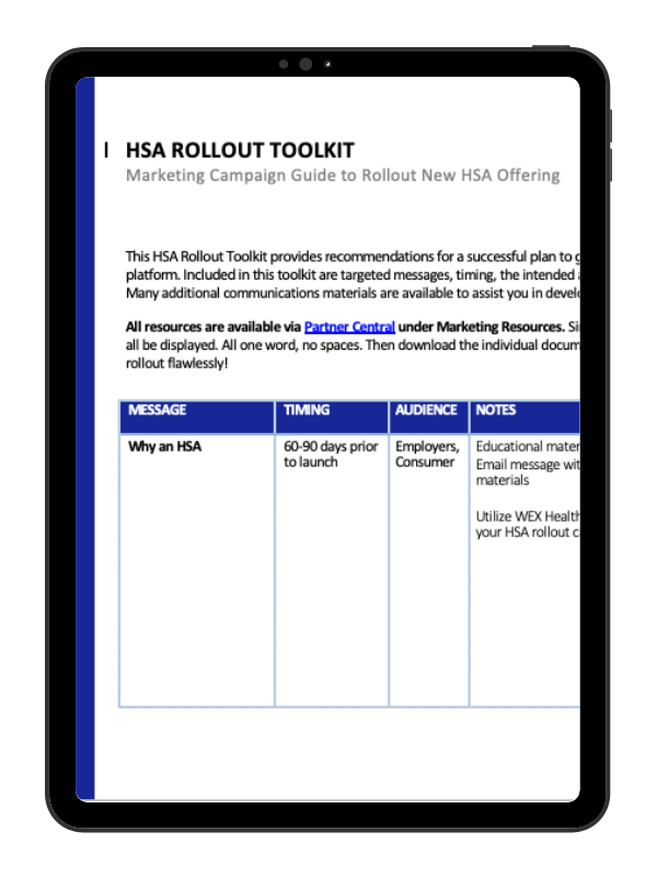 HSA Rollout Toolkit for Employers